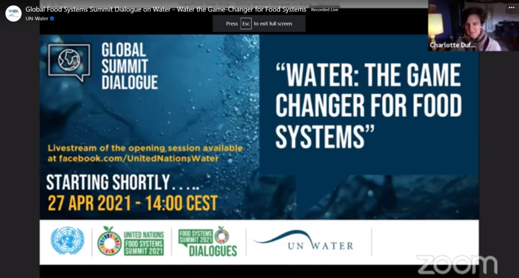 Global Food Systems Summit Dialogue on Water
