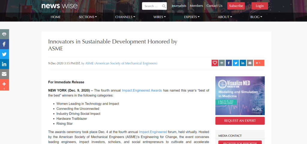 The fourth annual Impact.Engineered Awards has named this year's